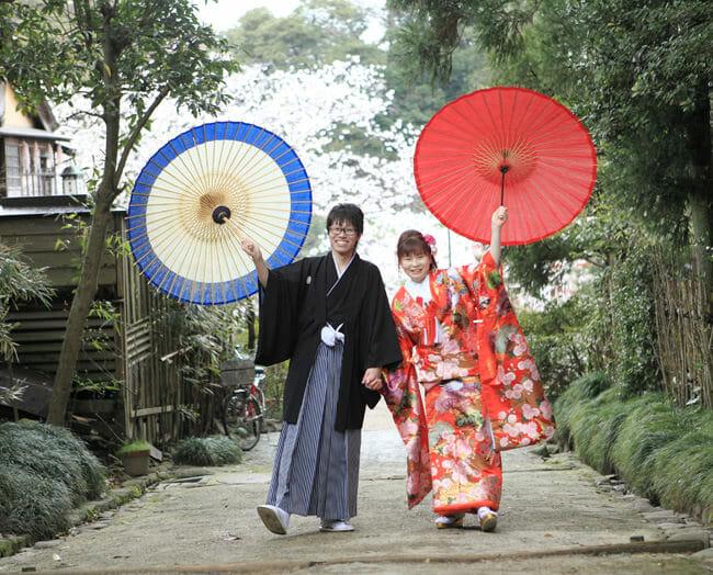 17赤地桜に鶴飛翔 [image 8 of 9]